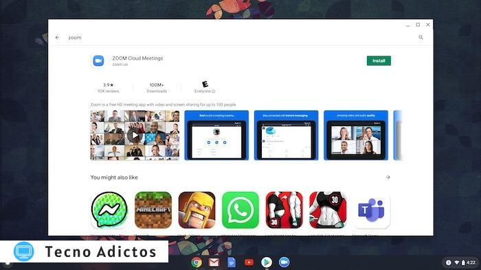 Utilice Zoom Chromebook Video Search