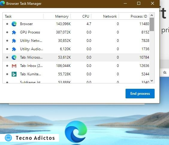 Hands On Microsoft Edge Browser Task Manager