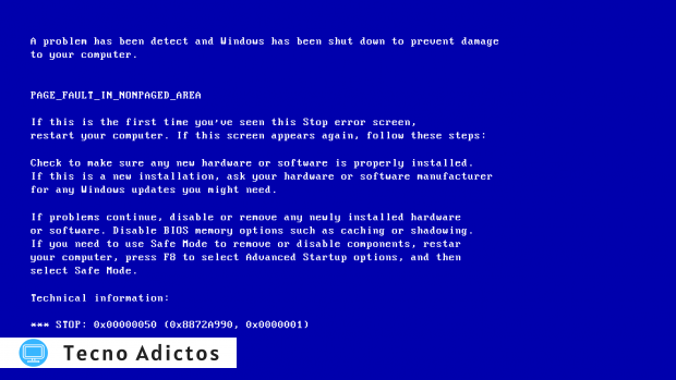 Problemas de actualización de Windows Bsod 1