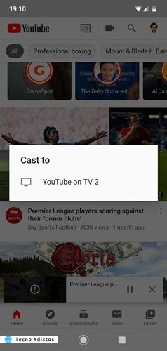 Transmitir Youtube Pc desde Ios Android Phone Cast