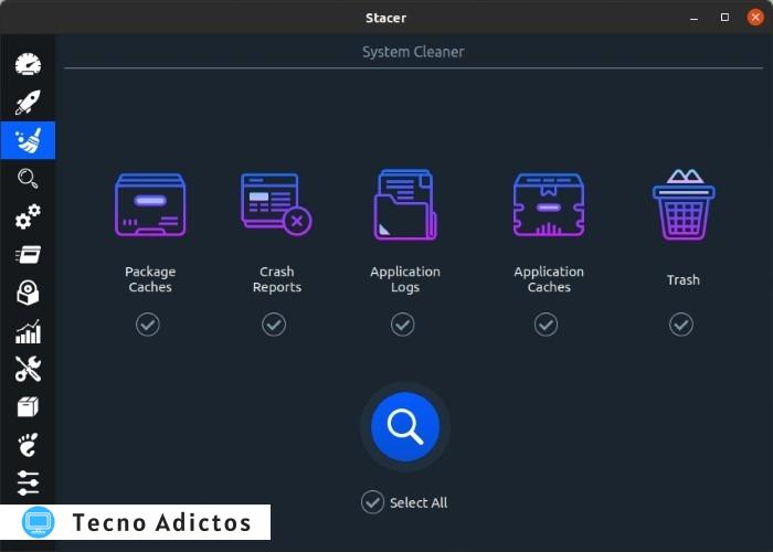 Optimice Linux con Stacer System Cleaner