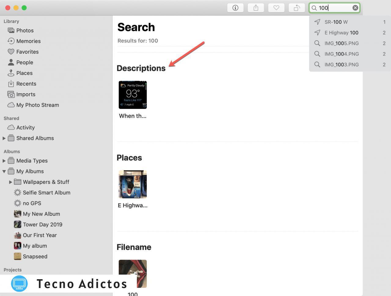 Fotos Buscar Descripciones Mac
