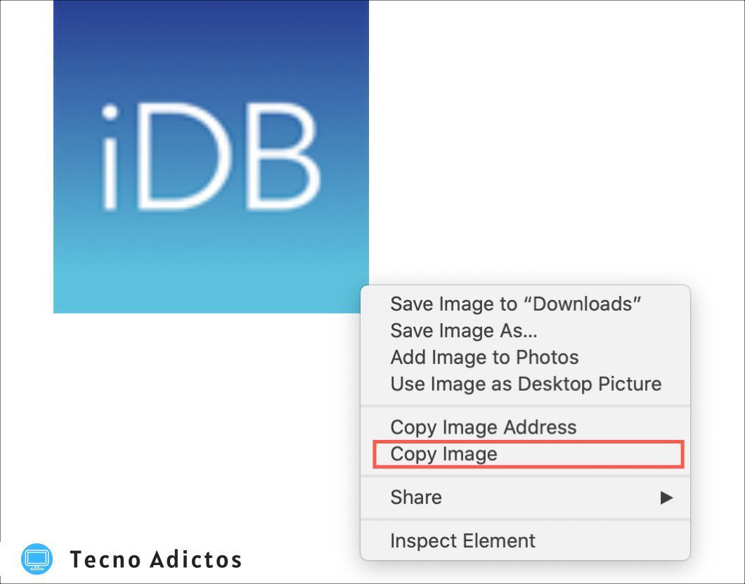 Safari Copiar imagen Mac