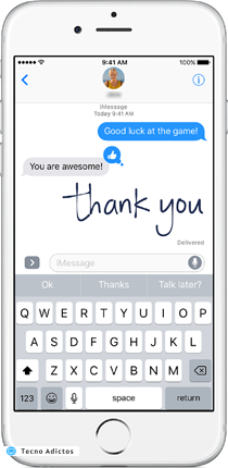 imessage-texto-manuscrito