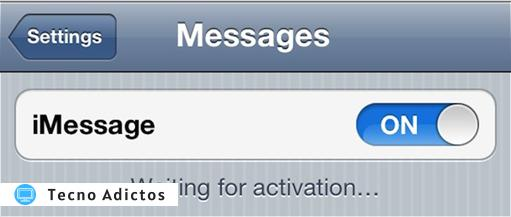 iphone iMessage waiting for activation 1