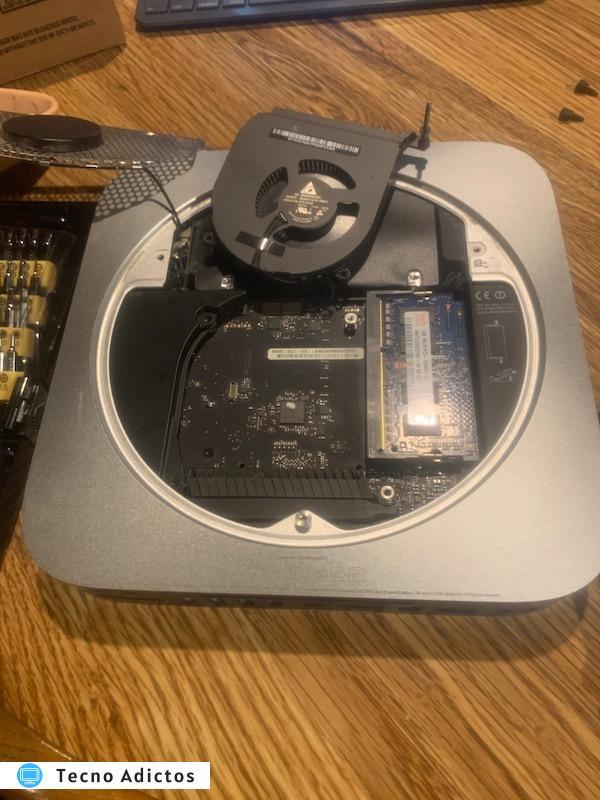 Ventilador de Mac Mini eliminado
