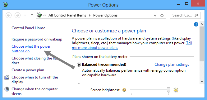 Make-space-clean-up-c-drive-power-options