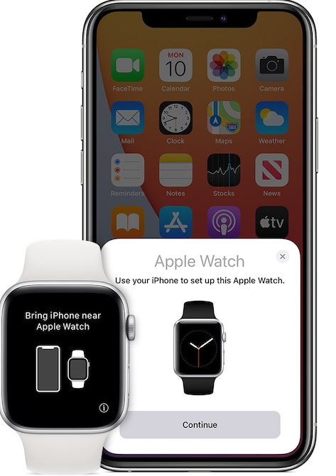 Cambiar pantalla de par de configuración de iPhone de Apple Watch