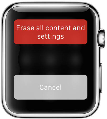 Cambiar la configuración de borrado de Apple Watch Iphone
