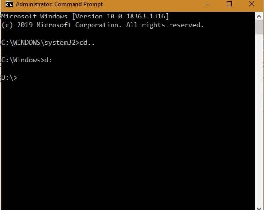 Windows10 Command Fileopen Change Drive