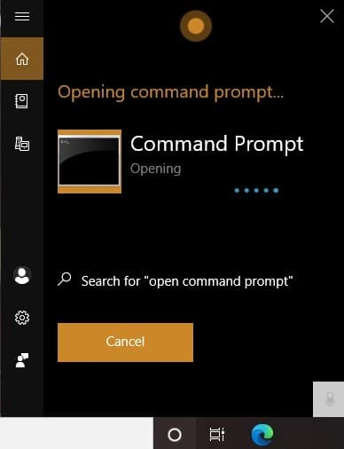 Comando de Windows10 Comando de Cortana