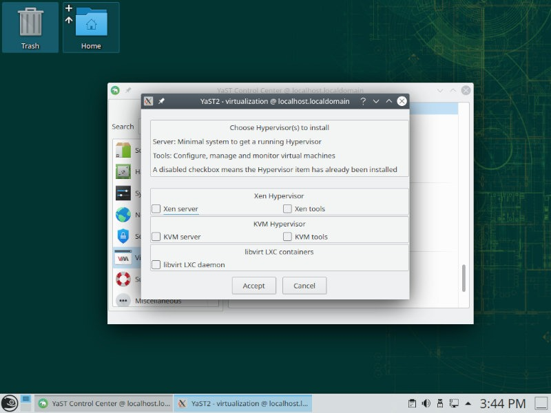 Opensuse Review Yast Virtualization