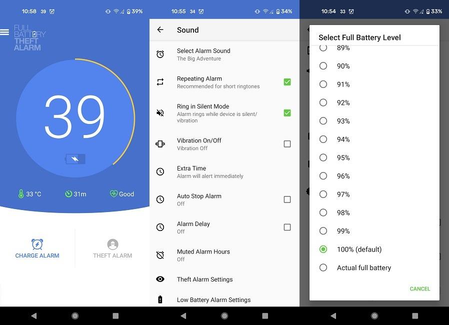Las mejores aplicaciones de notificación de batería llena Alarma de robo de batería completa