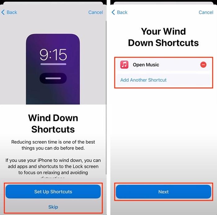 Configuración de seguimiento del sueño del Apple Watch Atajos de desconexión