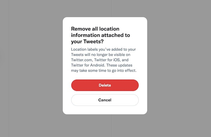 Delete Anything Twitter Account Remove Location