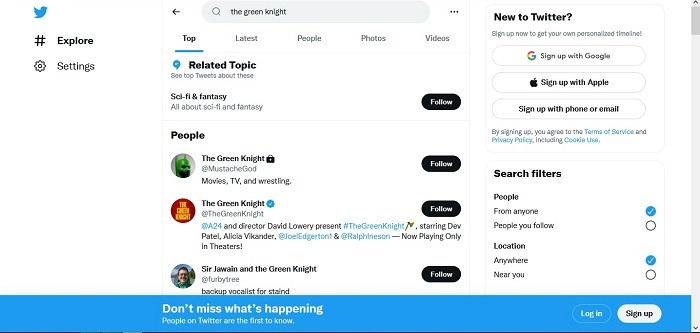 How To View Twitter No Account Search Explore Tab