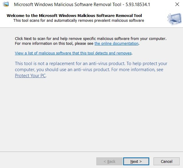 Run Commands Malicious Software Removal